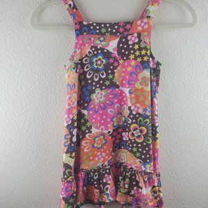 HANNA ANDERSSON Floral Sleeveless Dress 5T 110